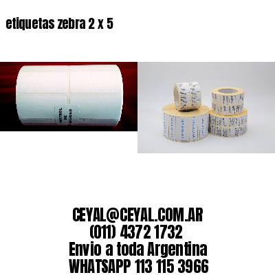 etiquetas zebra 2 x 5
