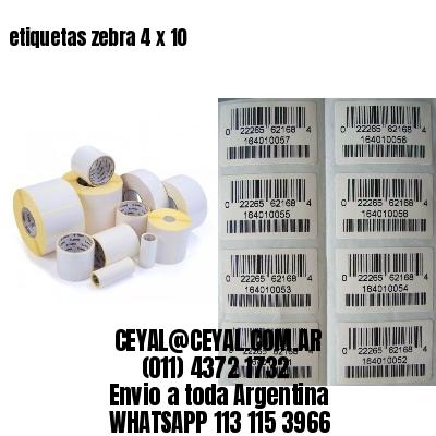 etiquetas zebra 4 x 10