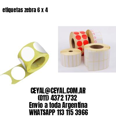 etiquetas zebra 6 x 4
