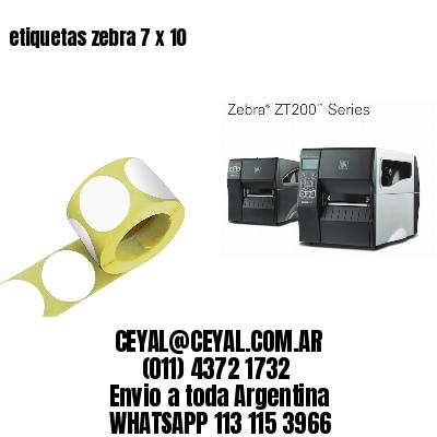 etiquetas zebra 7 x 10