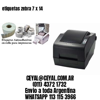 etiquetas zebra 7 x 14
