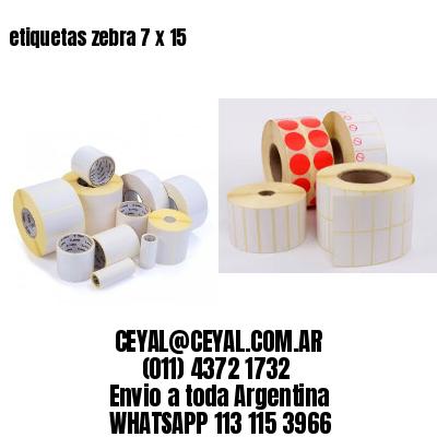 etiquetas zebra 7 x 15