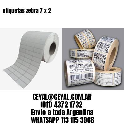 etiquetas zebra 7 x 2