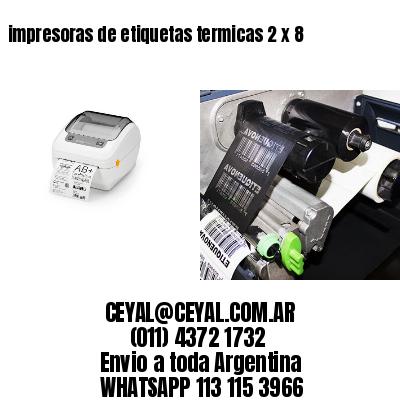 impresoras de etiquetas termicas 2 x 8