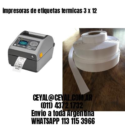 impresoras de etiquetas termicas 3 x 12