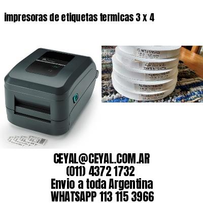 impresoras de etiquetas termicas 3 x 4
