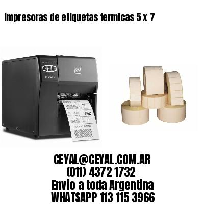 impresoras de etiquetas termicas 5 x 7