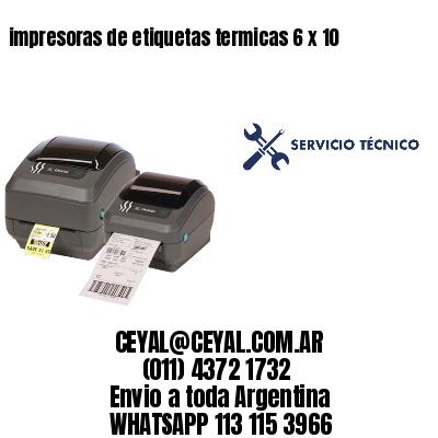 impresoras de etiquetas termicas 6 x 10