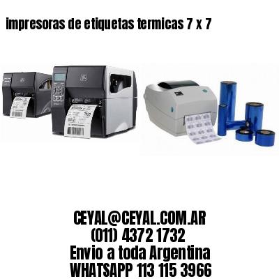 impresoras de etiquetas termicas 7 x 7