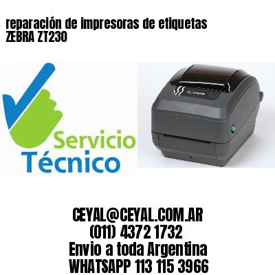reparación de impresoras de etiquetas ZEBRA ZT230