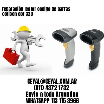 reparación lector codigo de barras opticon opr 320