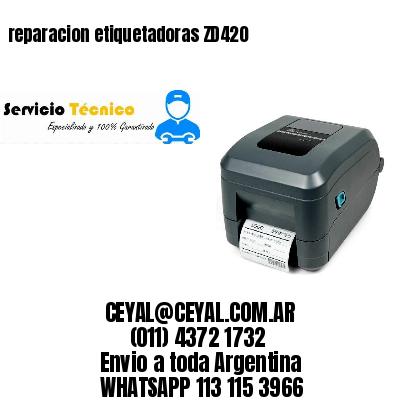 reparacion etiquetadoras ZD420