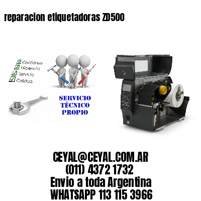 reparacion etiquetadoras ZD500
