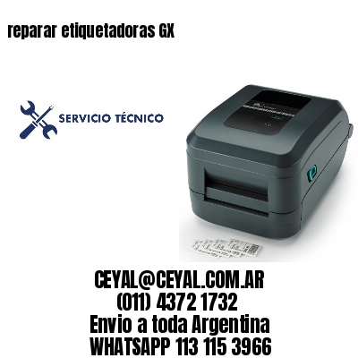 reparar etiquetadoras GX
