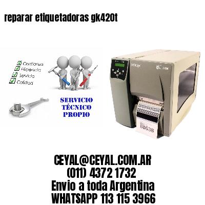 reparar etiquetadoras gk420t