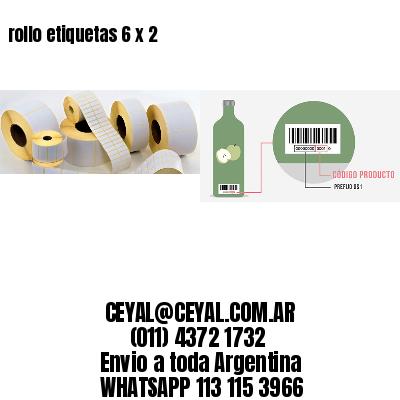 rollo etiquetas 6 x 2