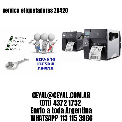 service etiquetadoras ZD420