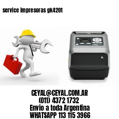 service impresoras gk420t