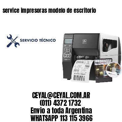 service impresoras modelo de escritorio