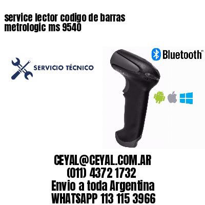 service lector codigo de barras metrologic ms 9540