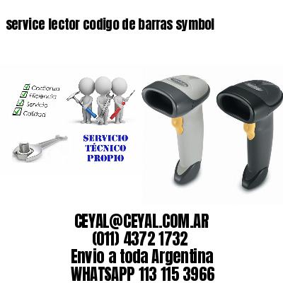 service lector codigo de barras symbol