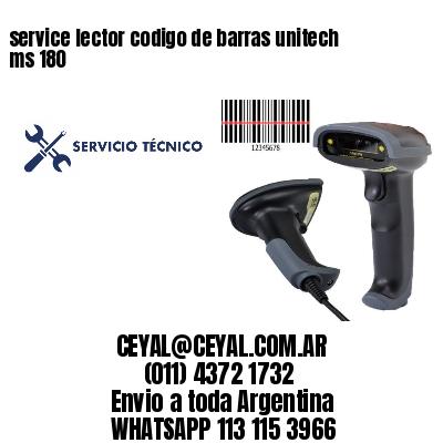 service lector codigo de barras unitech ms 180
