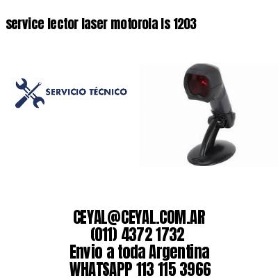 service lector laser motorola ls 1203