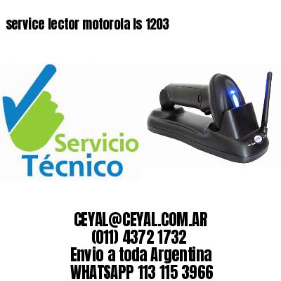 service lector motorola ls 1203