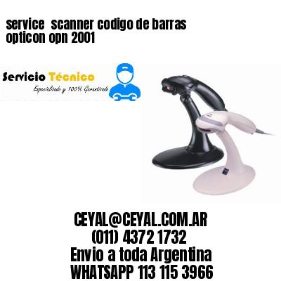 service  scanner codigo de barras opticon opn 2001