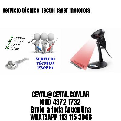 servicio técnico  lector laser motorola