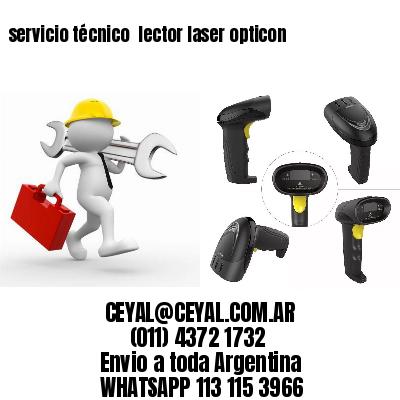 servicio técnico  lector laser opticon