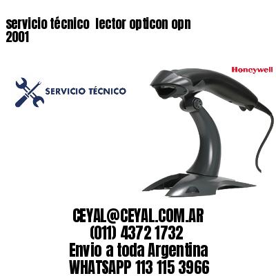 servicio técnico  lector opticon opn 2001