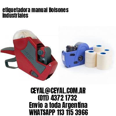 etiquetadora manual Bolsones industriales