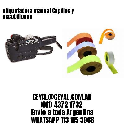 etiquetadora manual Cepillos y escobillones