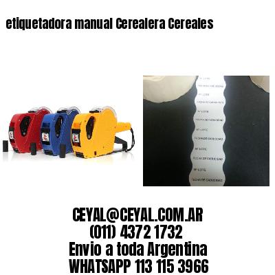 etiquetadora manual Cerealera Cereales