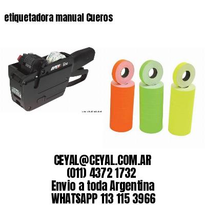 etiquetadora manual Cueros