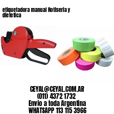 etiquetadora manual Rotiseria y dietetica