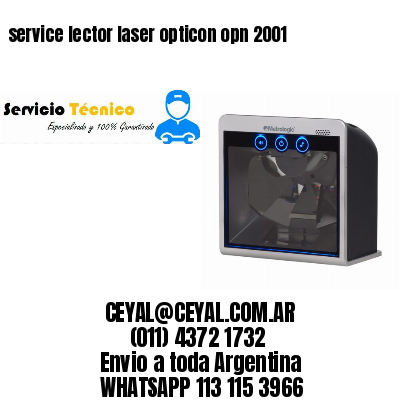 service lector laser opticon opn 2001