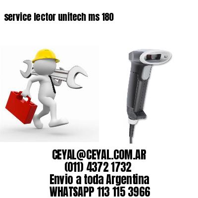service lector unitech ms 180