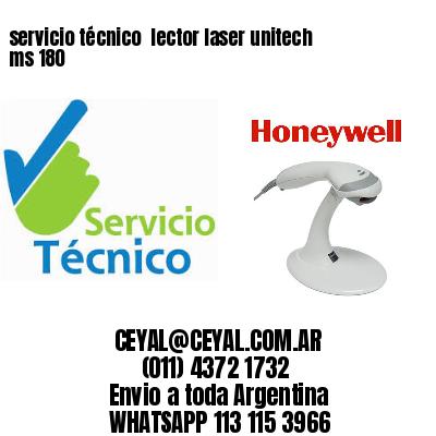 servicio técnico  lector laser unitech ms 180