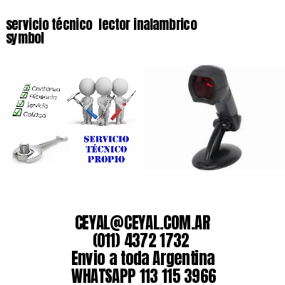 servicio técnico  lector inalambrico symbol