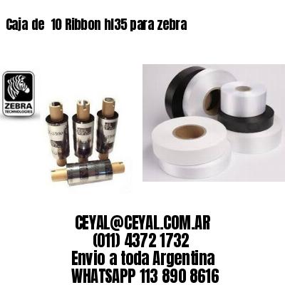 Caja de  10 Ribbon hl35 para zebra