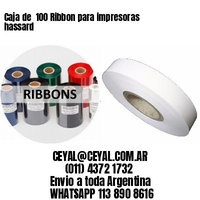 Caja de  100 Ribbon para impresoras hassard