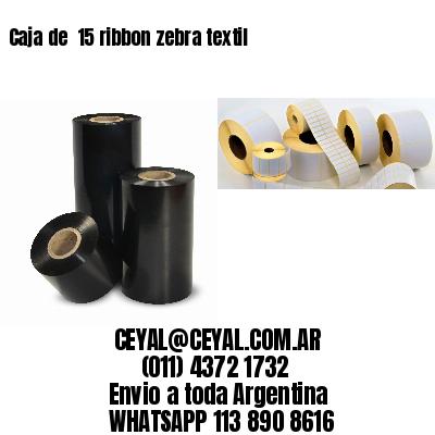 Caja de  15 ribbon zebra textil