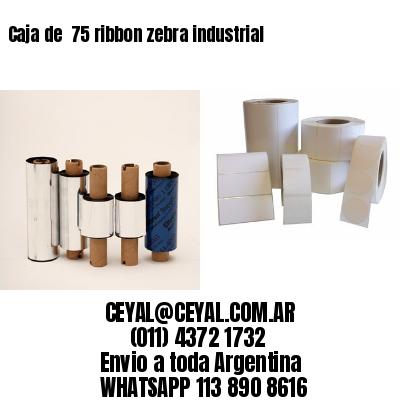 Caja de  75 ribbon zebra industrial