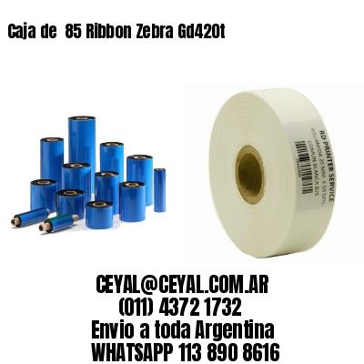 Caja de  85 Ribbon Zebra Gd420t