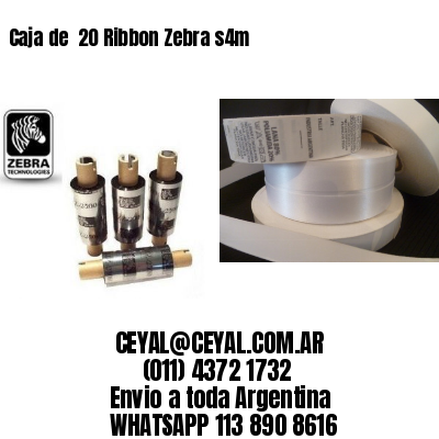 Caja de  20 Ribbon Zebra s4m