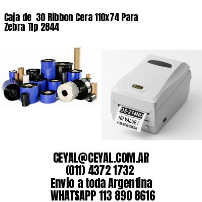 Caja de  30 Ribbon Cera 110x74 Para Zebra Tlp 2844