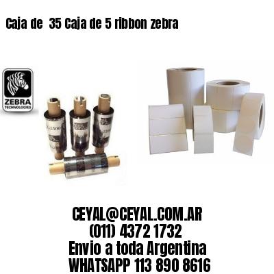 Caja de  35 Caja de 5 ribbon zebra