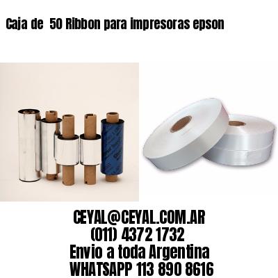 Caja de  50 Ribbon para impresoras epson
